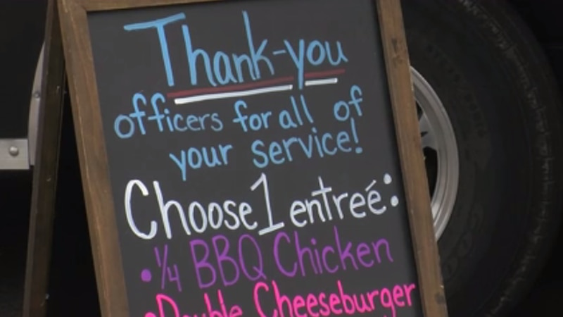 Three Indiana state representatives treated a group of first responders to a free meal in...