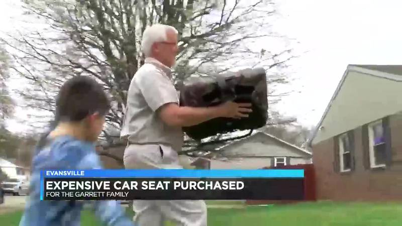 Child with special needs gets unique car seat