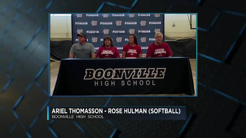 Boonville holds Signing Day for trio