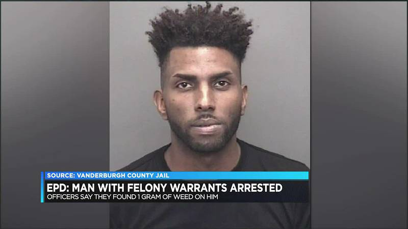 EPD: Man with active felony warrants arrested, charged with marijuana possession