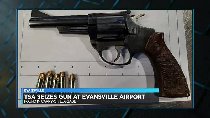 TSA seizes gun at Evansville Regional Airport