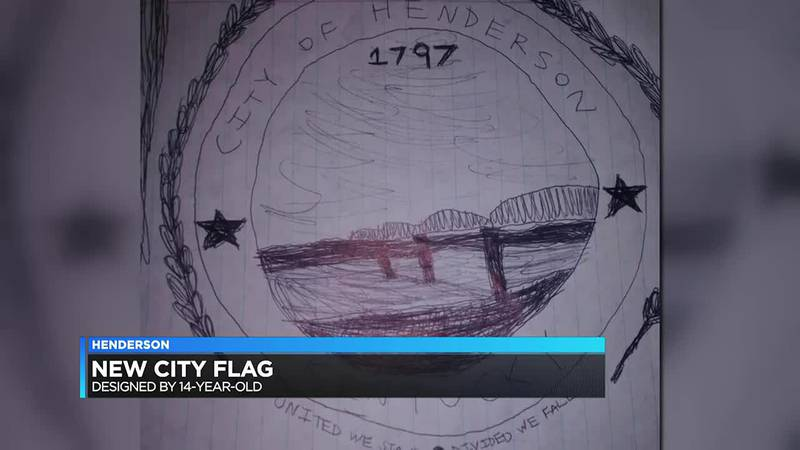 Henderson teen's design for city flag adopted by commissioners