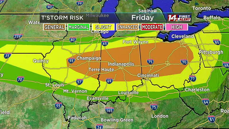 6/18 14 First Alert Forecast at 11 a.m.
