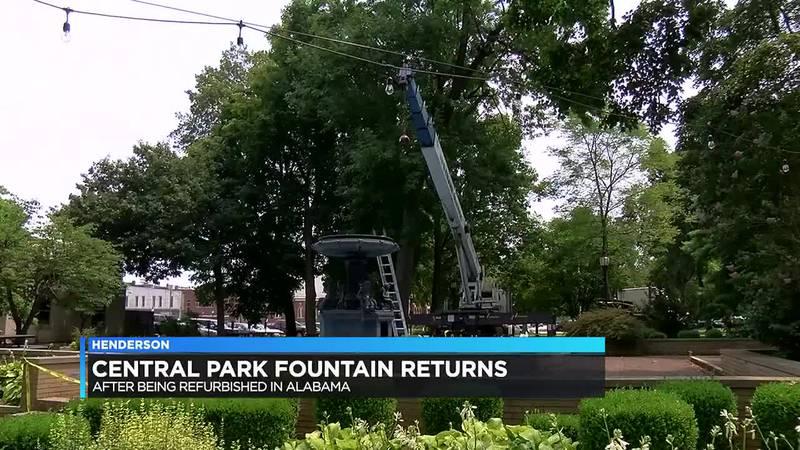 Henderson's Central Park fountain reinstallation starts Tuesday.