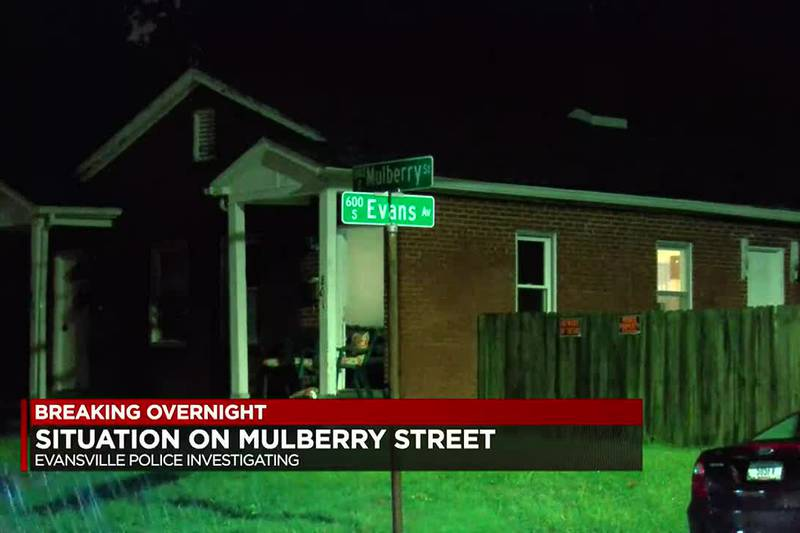 Evansville police investigating a situation on Mulberry St.