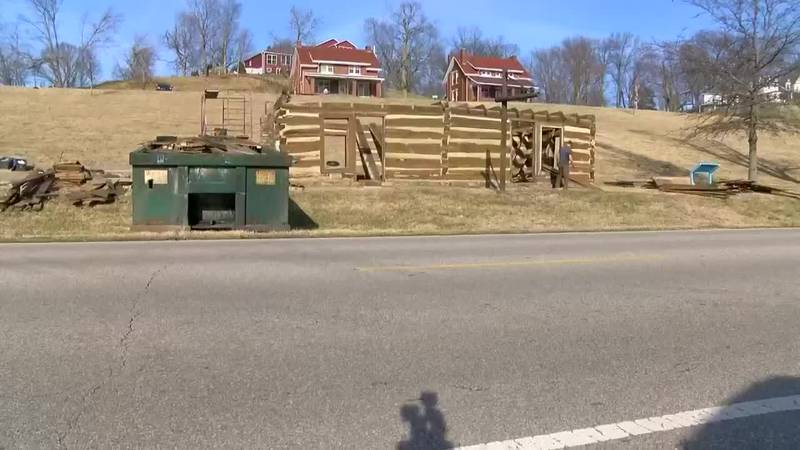 Historic log cabin being dismantled in Newburgh
