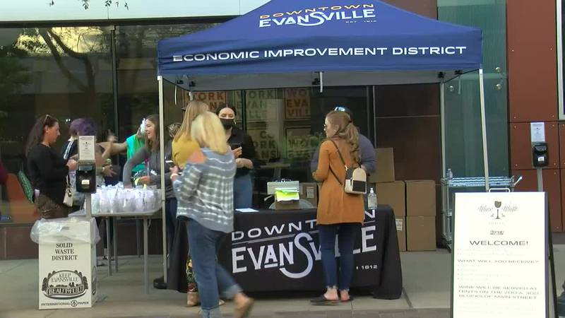 Evansville's Wine Walk back for the first time in two years