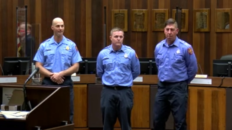 EFD honors firefighters for rescuing efforts in March house fire