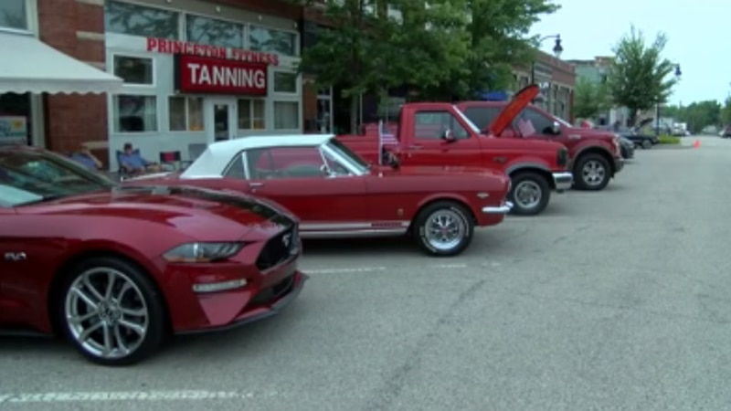 Good weather allowed people to turn out for a summer car show in Princeton on Friday night.