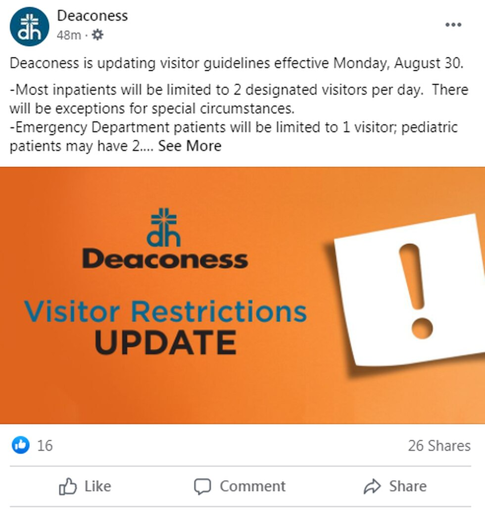 Deaconess Visitor Guideline update