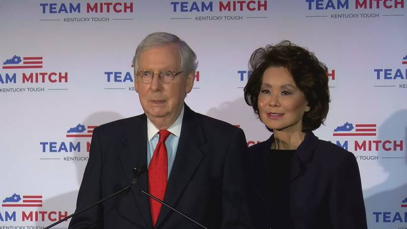 On Nov. 3, 2020, Sen. Mitch McConnell (R-Ky.) delivered his acceptance speech after being...