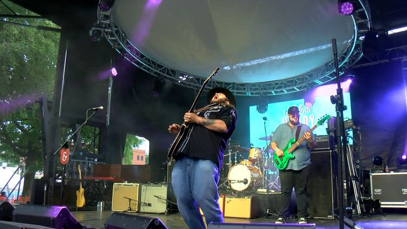 The W.C. Handy Blues and Barbecue Festival is underway.