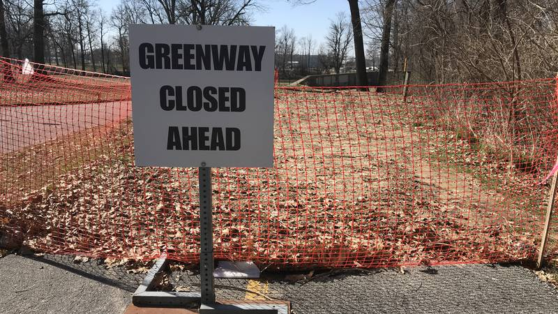 The Evansville Greenway is closed from the Ulhorn Trailhead to the Garvin Park Trailhead for...
