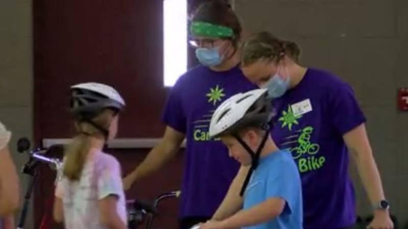 Easterseals teaches children how to ride bikes through camp