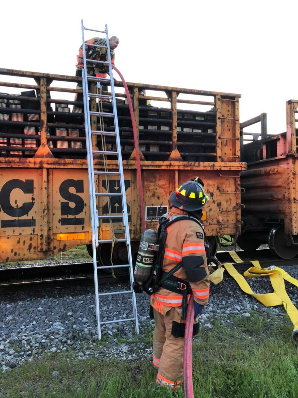 Authorities: Crews extinguish train fire in Fort Branch, no injuries reported