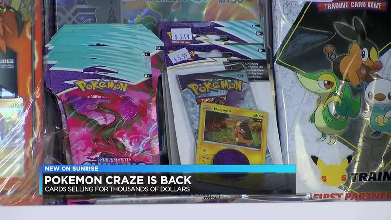 Evansville business cashing in on Pokémon craze as card prices skyrocket.