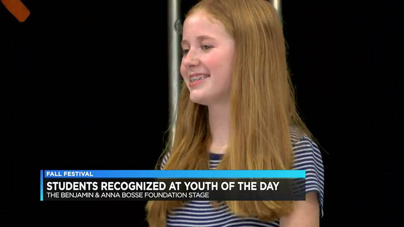 Fall Festival recognizes students as 'Youth of the Day' winners