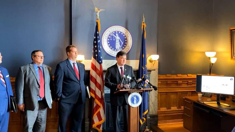 Attorney General Todd Rokita making lawsuit announcement
