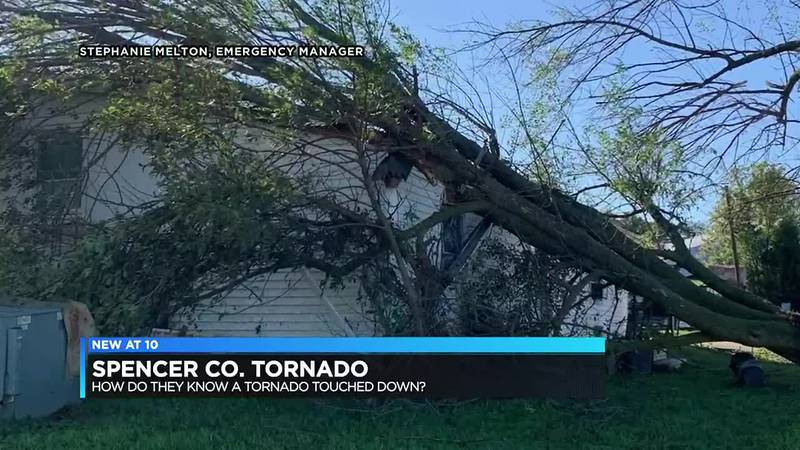 Preliminary results show tornado formed during Friday storms in Spencer Co.