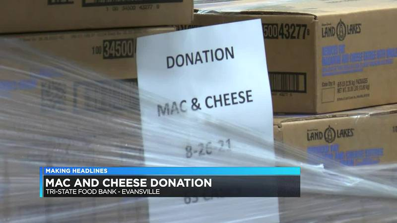 Tri-State Food Bank gets 40K pound donation of mac & cheese