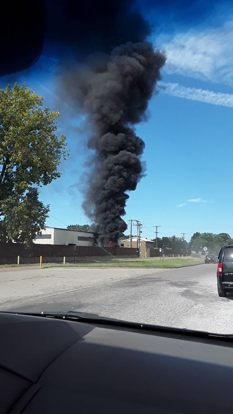 We received this photo not far from the fire from a viewer on Facebook.