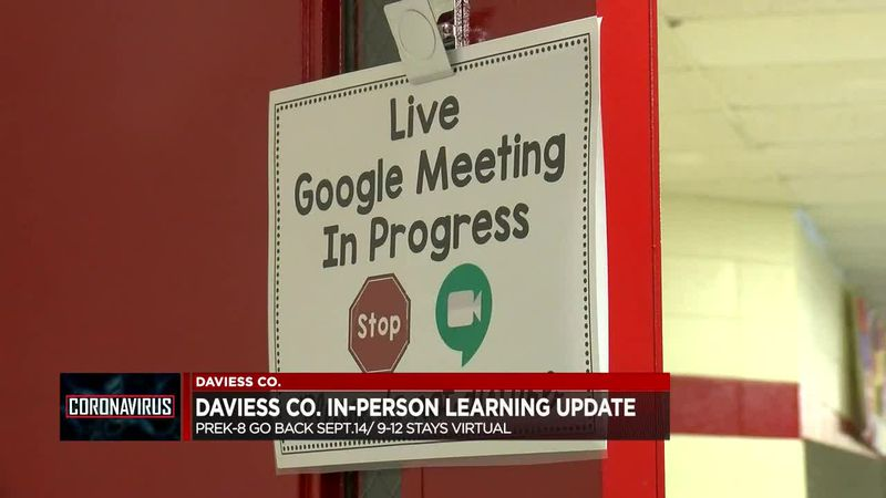 In-person learning starts Sept. 14 for Daviess Co. students