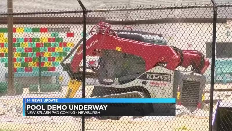 Demolition starts at Lou Dennis Pool in Newburgh