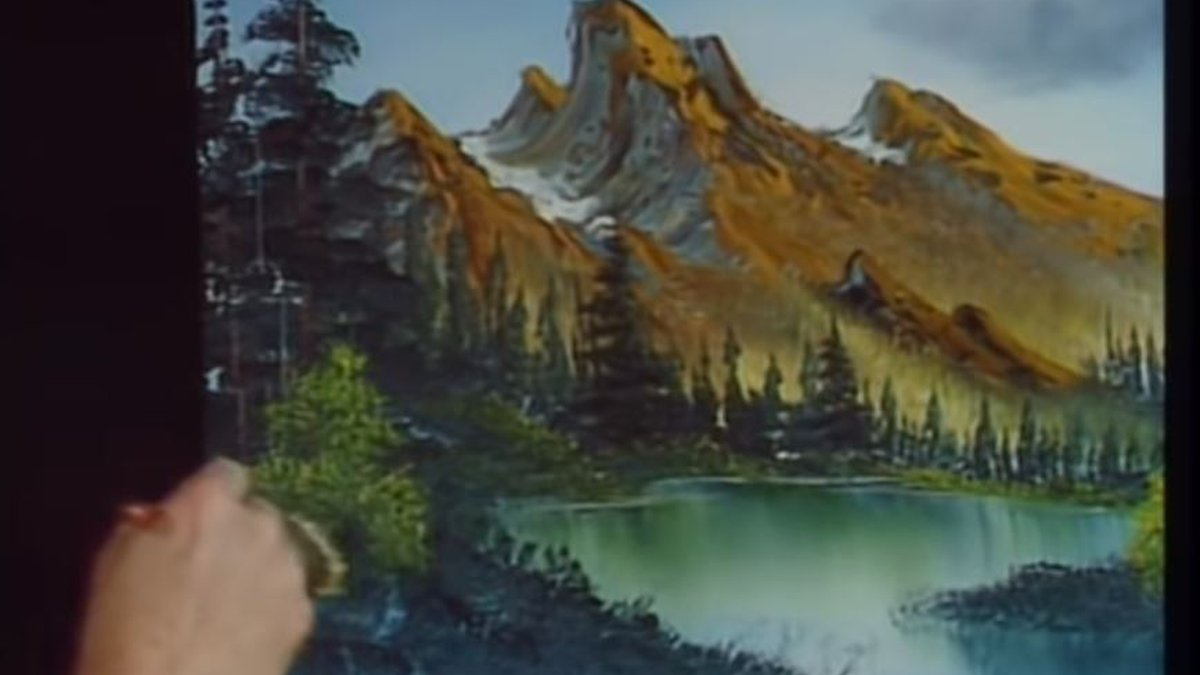 """Bob Ross painting """"Brown Mountain"""""""