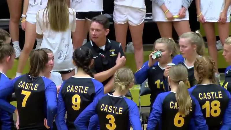 IHSAA 4A Volleyball Sectional Finals: Castle vs. Jasper