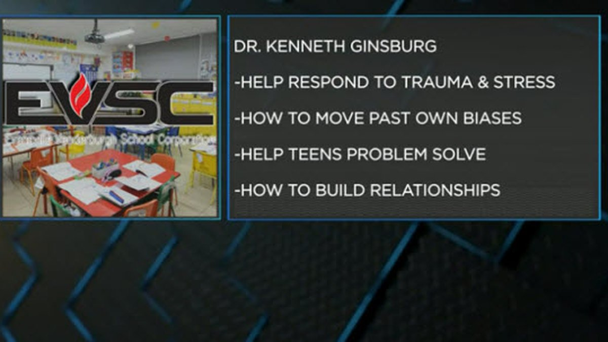 Resilient Evansville is hosting the nationally-recognized Pediatrician Dr. Kenneth Ginsburg.
