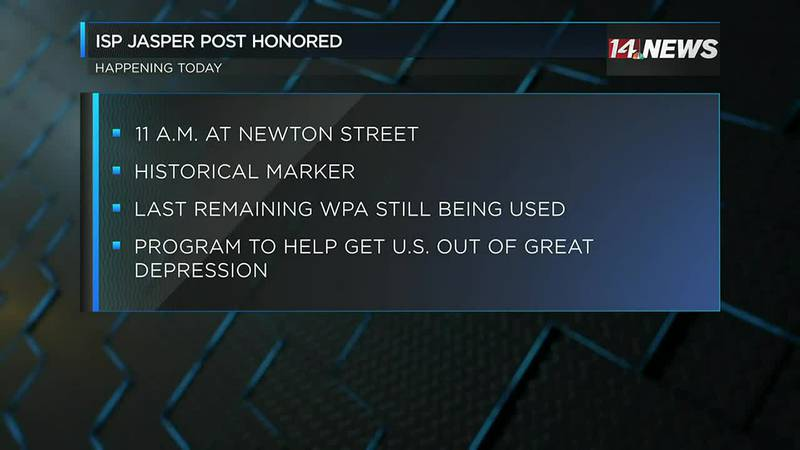 ISP Jasper Post to be honored Wed. with historical marker.