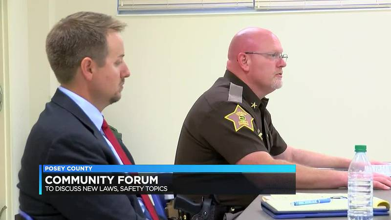 Sheriff, prosecutor hold community forum in Posey Co.