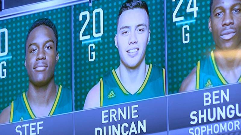 Three Duncan brothers graduated from Harrison High School and now play together for Vermont...