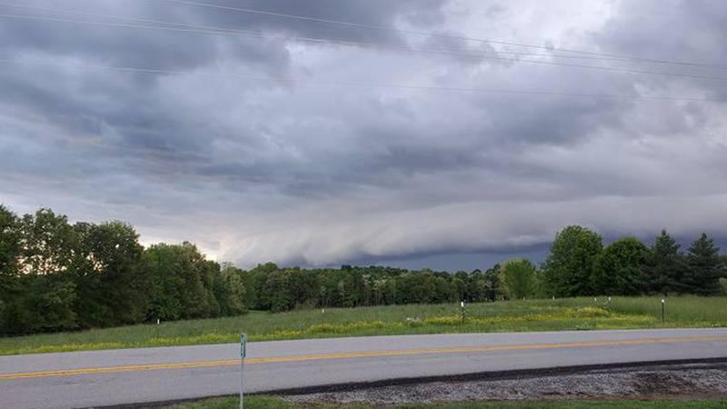 Stormy skies in Hopkins County
