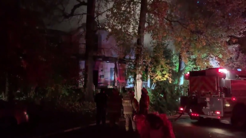 The fire broke out around 1:30 at a home on North Gibson Street in Oakland City.