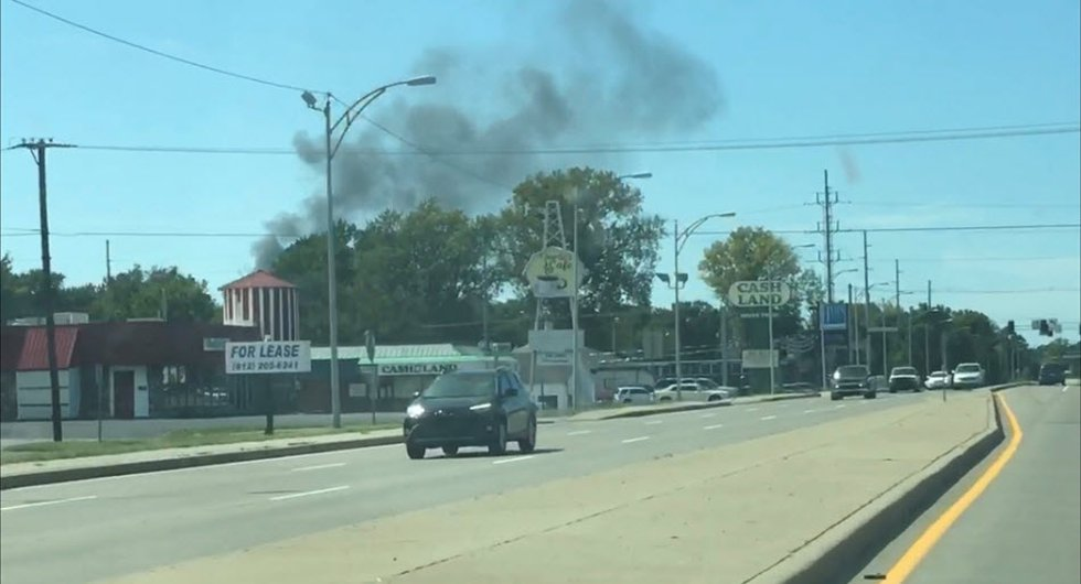 14 News has received photos from viewers saying they can the smoke from miles away.