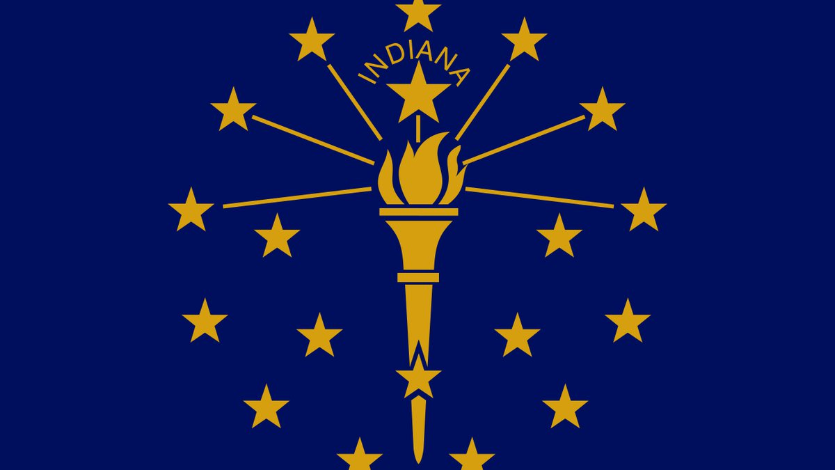 Flag of the Great State of Indiana.