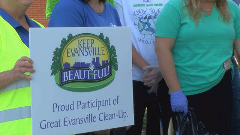 Keep Evansville Beautiful works with big companies to keep Evansville cleaned up.