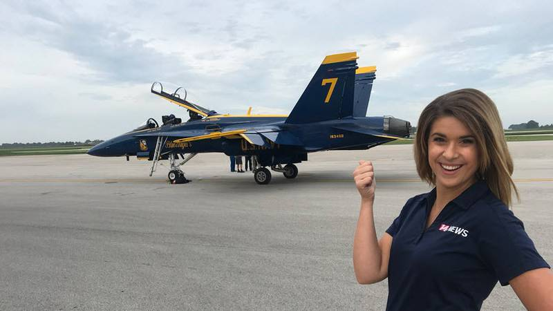 14 News anchor Shaelie Clark will get to take the ride of a lifetime with the Blue Angels...