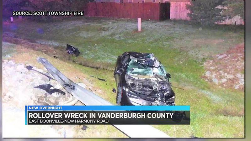 Deputies respond to rollover wreck in Vanderburgh Co.