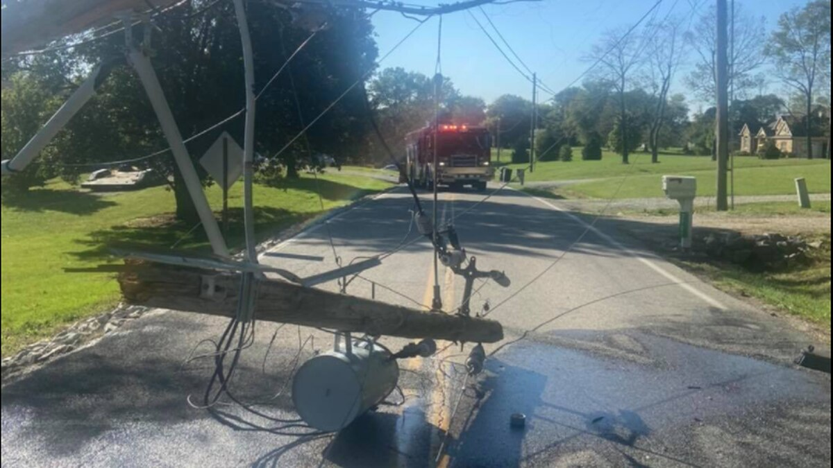 Wires down on West Mill Road