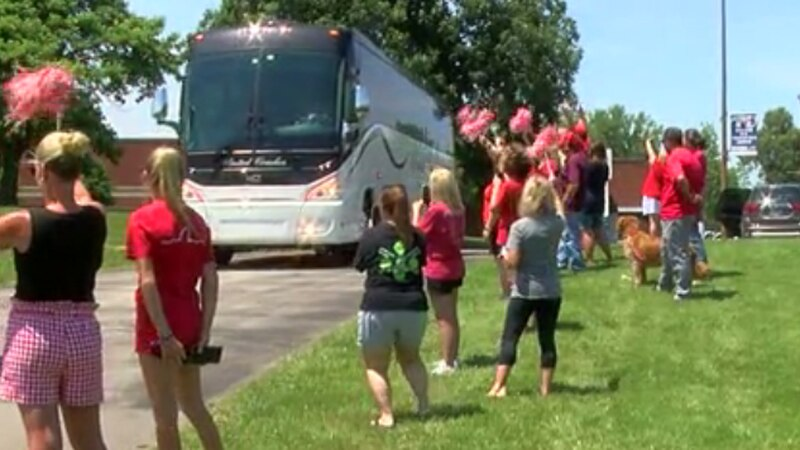Daviess County High School hosted a send-off event for its softball team Thursday as the Lady...