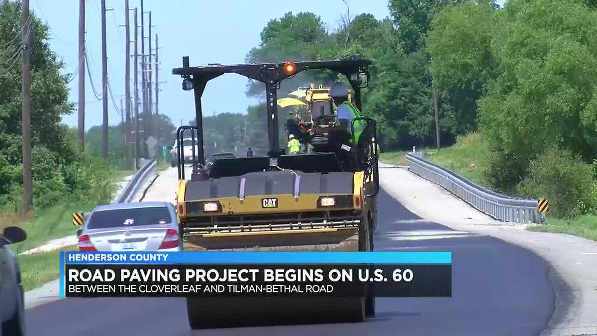 Paving project start on U.S. 60 in Henderson Co.