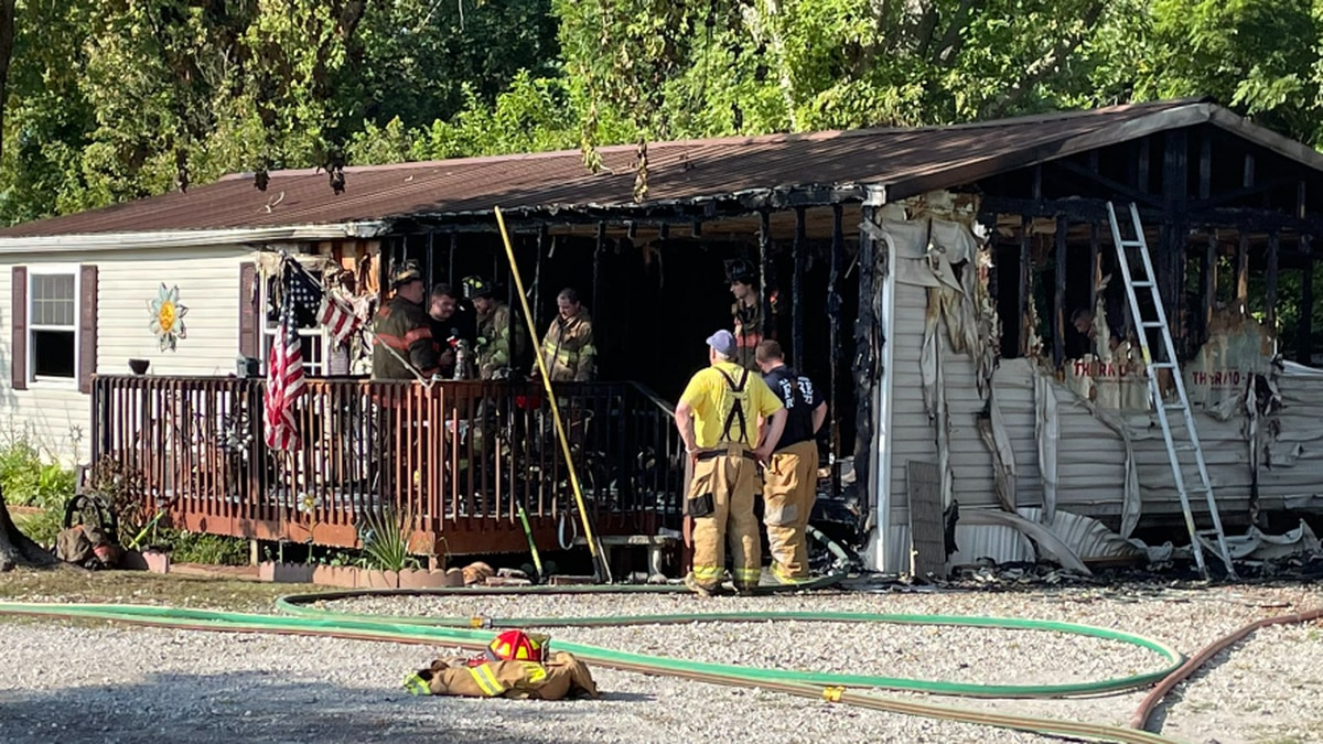Crews called to fire a in Posey County Tuesday morning.