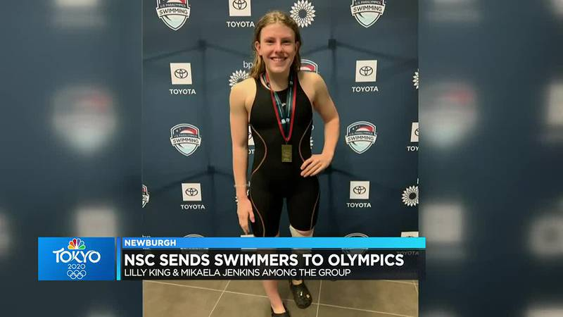 Newburgh swimming club supporting teammates at Olympic Games