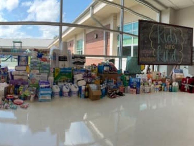 Henderson County students collect supplies for Waverly, Tennessee flood victims.