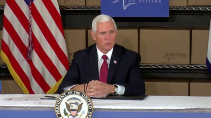 U.S. Vice President Mike Pence got the chance to meet some of the people fighting on the...