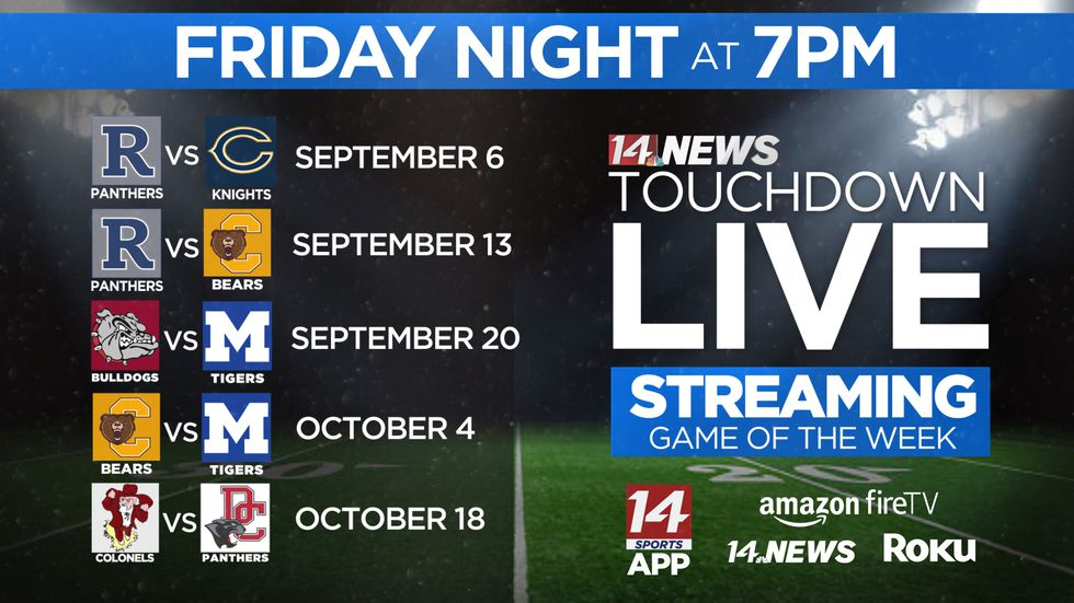 14 News is streaming five games this season.