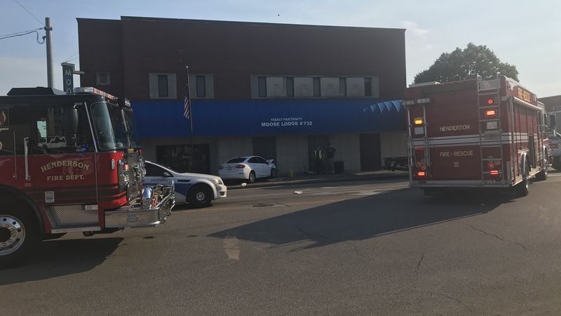 Authorities: Minor injuries reported after car drives into building in downtown Henderson