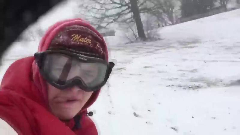 Heavy snow means sledding and snowboarding for some kids in Evansville